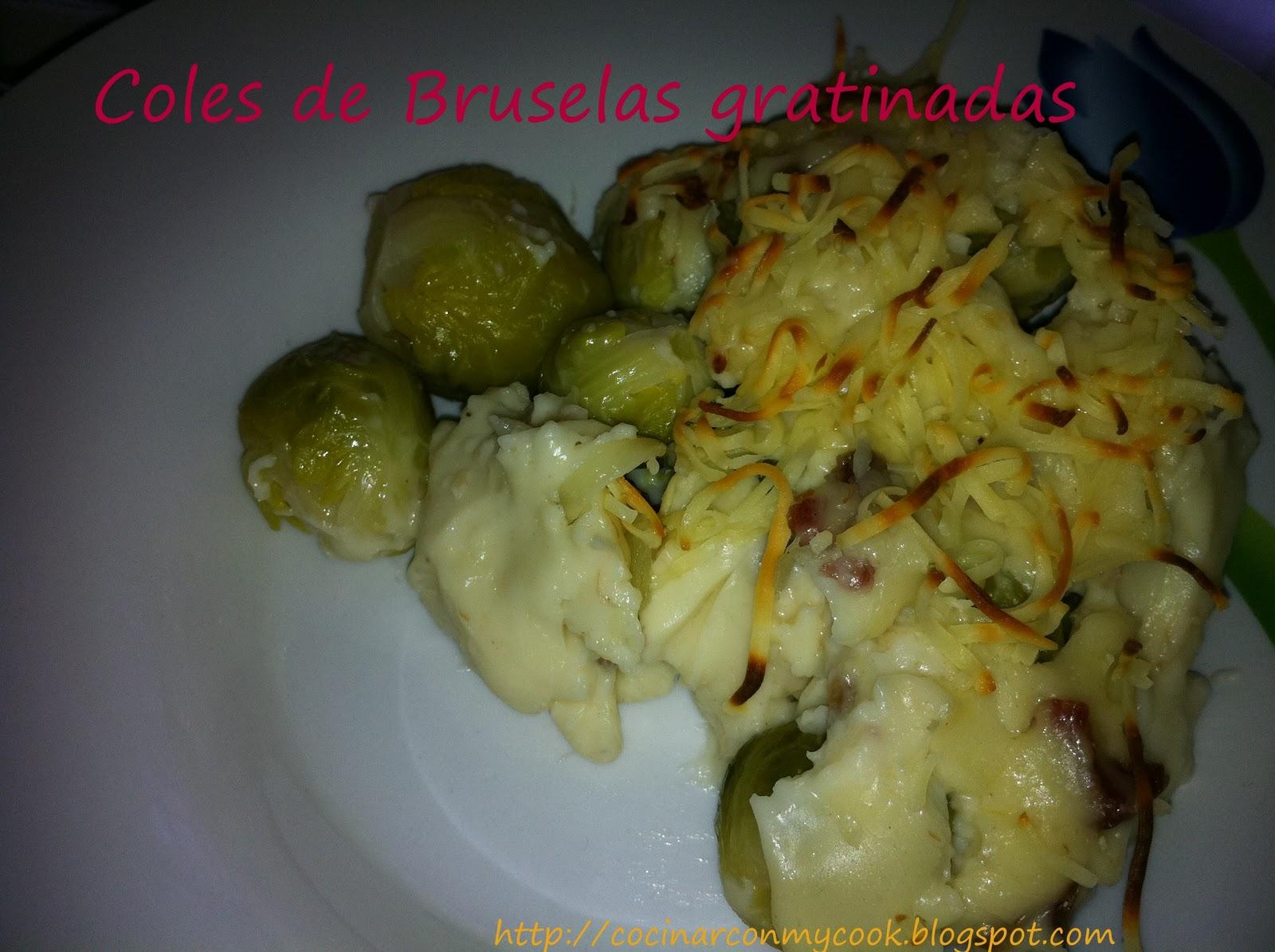 Cocinar con mycook coles de bruselas gratinadas - Cocinar coles de bruselas ...