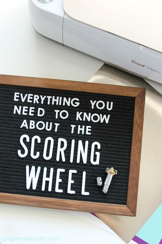 Everything You need to Know About the Cricut Scoring Wheel #cricut #cricutmade #cricutmaker