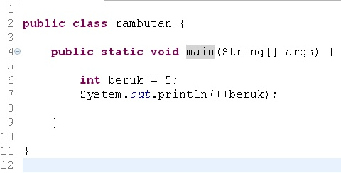 how to make an increment in java