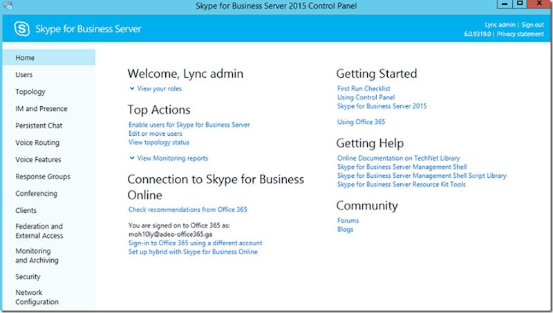 2- Skype for Business Edge server deployment and Hybrid integration