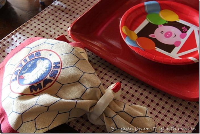 Laying mash napkin