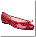 French Sole red ballet pumps
