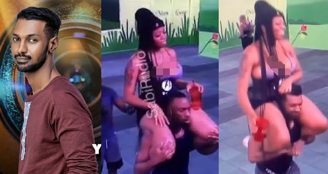 """""""yousef committing su!cide on live on tv"""" - Reactions as Skinny Yousef Carry Curvy Angel during morning workout section [Video]"""