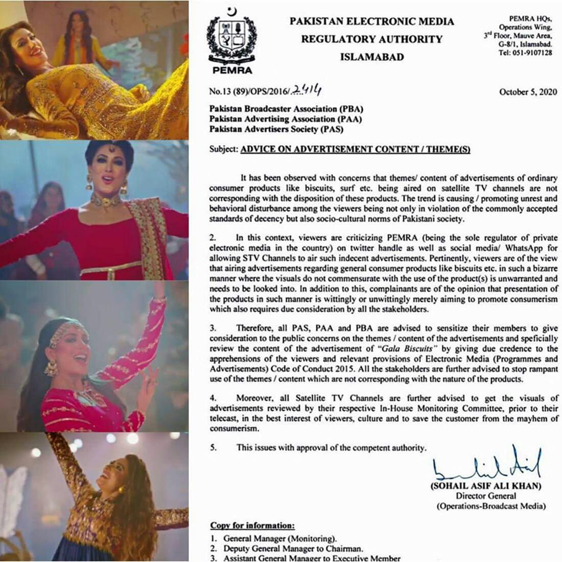 PEMRA bans Gala Biscuit Commercial Featuring Mehwish Hayat