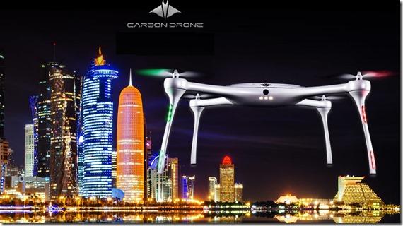 Carbon Drone al motor show del qatar