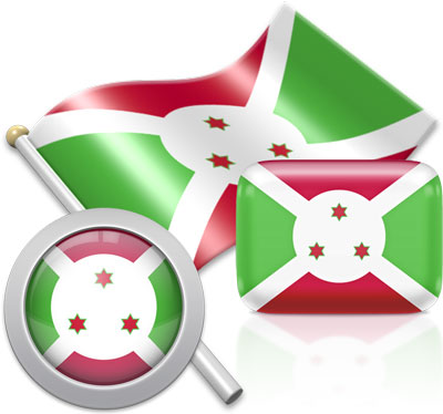 Burundian flag icons pictures collection