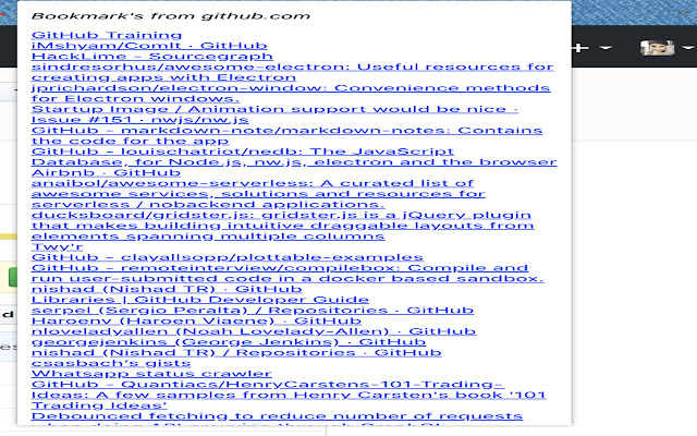 Current WebSite Bookmarks