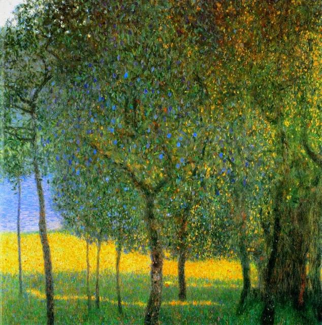 Quadro di Klimt, con alberi di frutta Fruit Trees