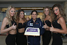 Sauber F1 Team 400 GPs.Monisha Kaltenborn with pit girls