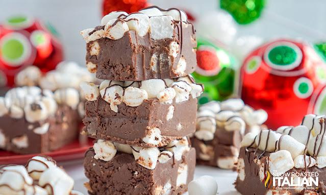 stack of Hot Cocoa Fudge