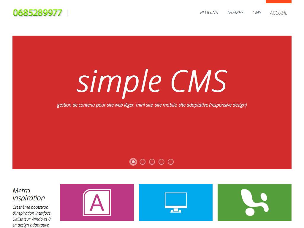 Bienvenue sur simple cms - simple CMS gestion de contenu simple et puissant - 1024x768