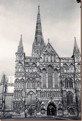 Salisbury, England Cathedral, May 1944