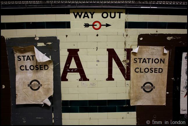 Leslie Green Lettering Aldwych Station