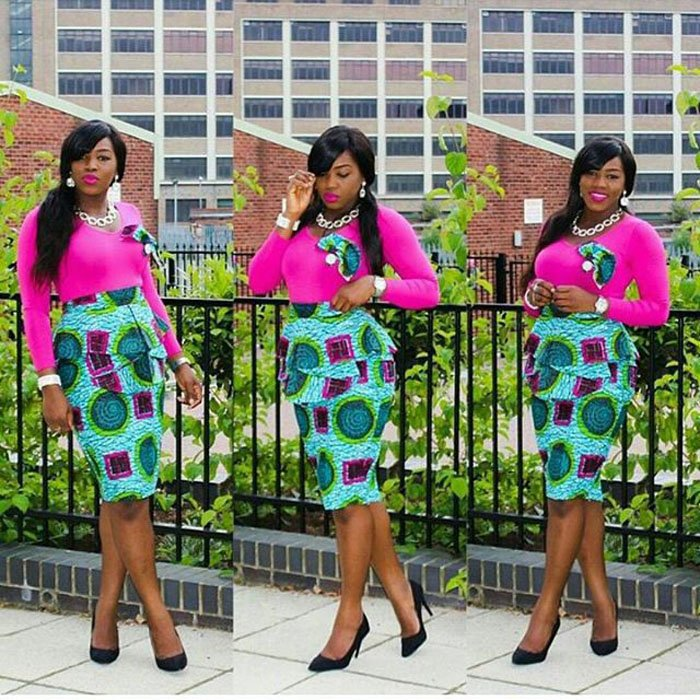 High waisted Ankara skirts this season in south Africa 1