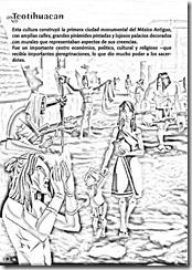 Teotihuacan para colorear | dibujos de teotihuacan para colorear