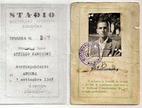 Tessera del quotidiano sportivo STADIO rilasciata nel 1948