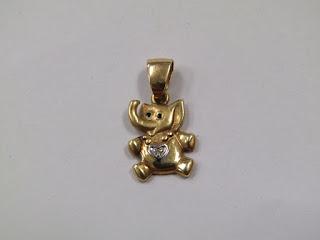 14 K Gold Elephant Pendant