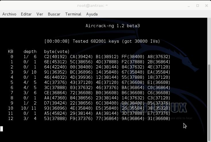 Reventando una red con cifrado WEP con un ataque ARP Request 7
