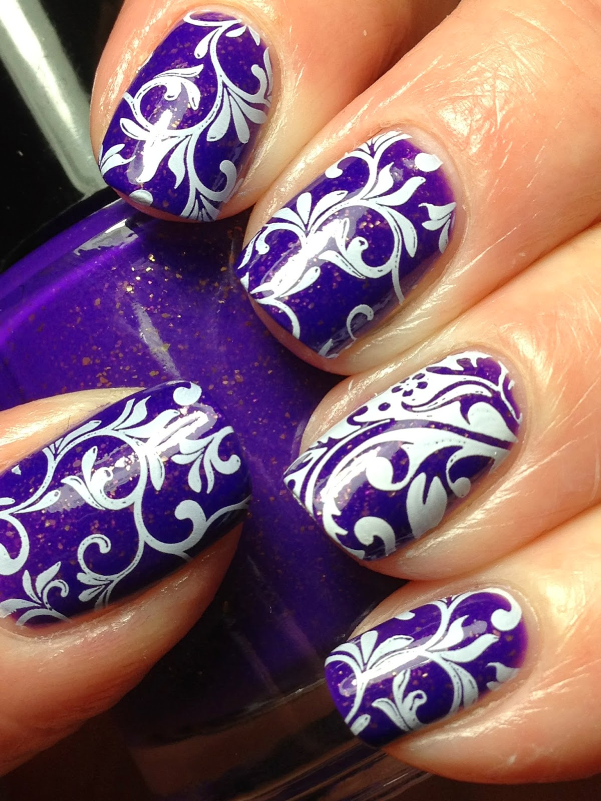 Spectacular Purple Acrylic Nails Art Designs For 2018 ...