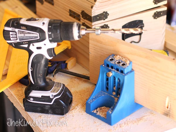 Kreg jig for pocket holes