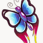 blue pink - tattoos ideas