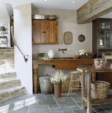 natural modern interiors: Kitchen design ideas :: Recycled ... on Farmhouse Rustic Kitchen  id=69497