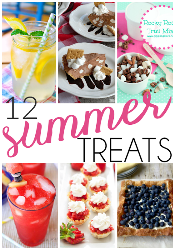 12 Summer Treats at GingerSnapCrafts.com #desserts #recipes #summer