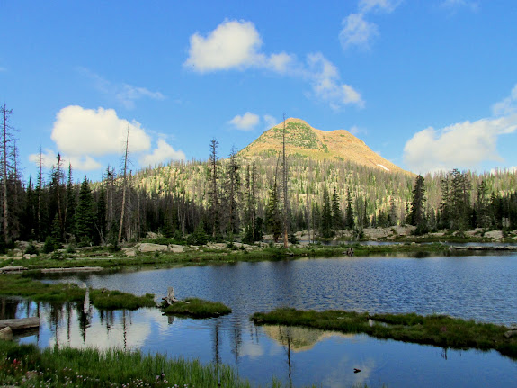 Unnamed peak above Island Lake