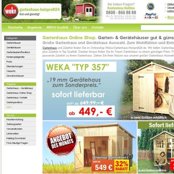weka gartenhaus holzprofi24.de   Google+