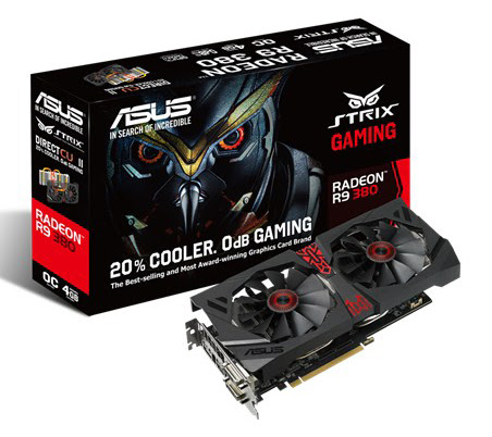 Placa video ASUS Radeon R9 380 STRIX OC 4GB GDDR5 256bit Configuraţie PC Gaming, sub 1000 Euro