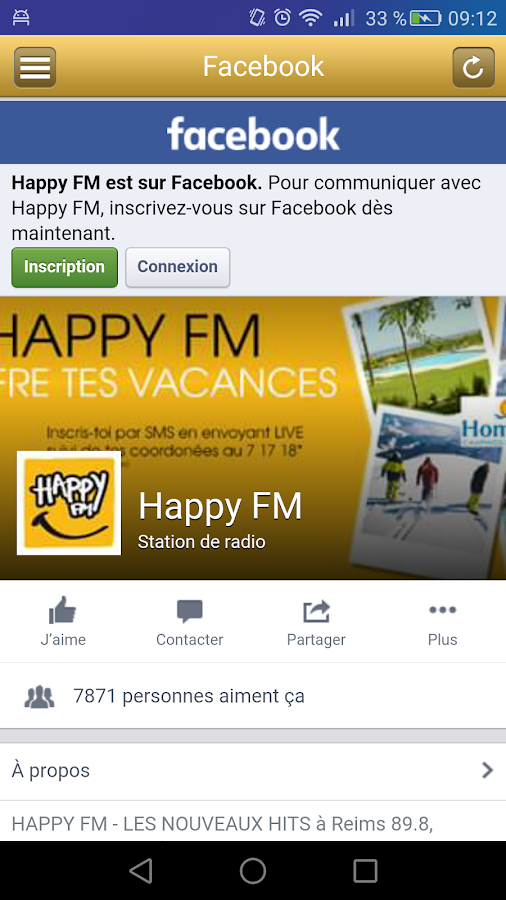 Happy FM Officiel – Capture d'écran