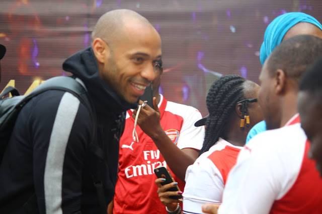 Guinness fulfill their promise :Thierry Henry visits Nigeria