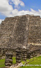 Mayapan Temple of Kukulcan equinox SS face.JPG