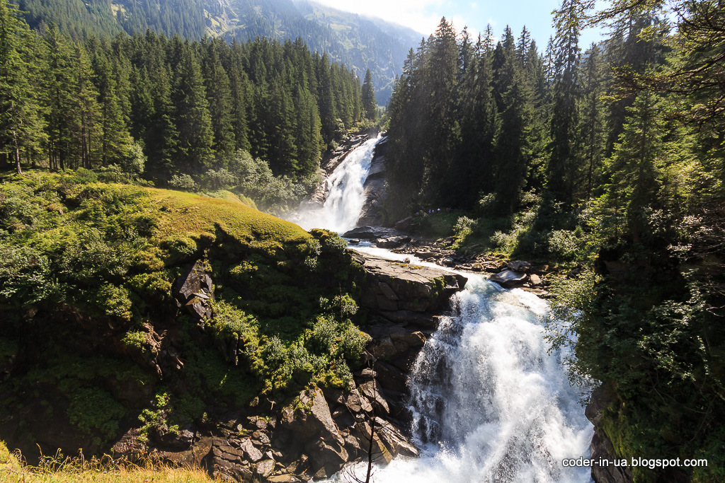 криммльские водопады. австрия