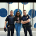 Bisola Aiyeola Poses With White Policemen In New York City (Photo)