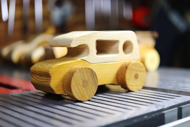 Handmade Wooden Toy Car Mini Van From The Speedy Wheels Series