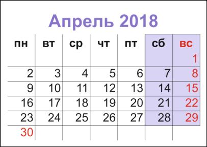 апрель 2018