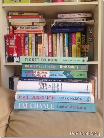 ticket to ride tom chesshyre me talk pretty one day david sedaris walking Ireland's Wild Atlantic Way Paul Clements Dent's Modern Tribes Susie Dent Mail Obsession Mark Mason Fat Chance Louise McSharry books