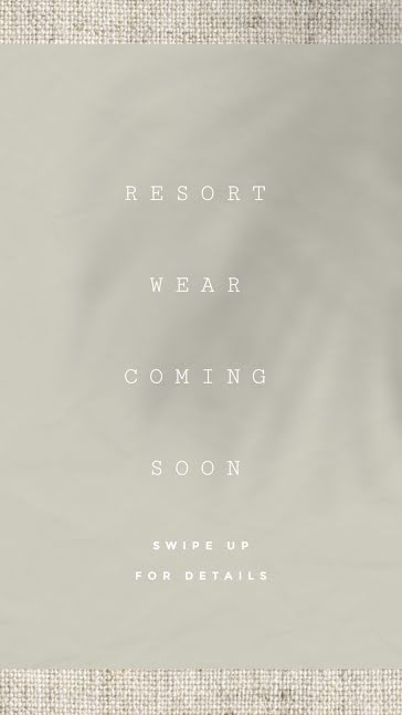 Resort Wear Coming Soon - Facebook Story Template