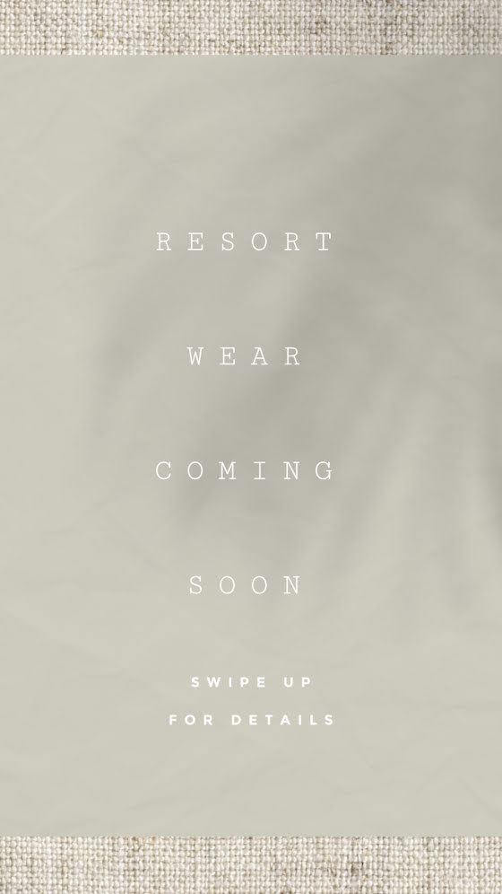Resort Wear Coming Soon - Facebook Story Template