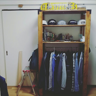 DIYで手作りしたウッドシェルフ棚