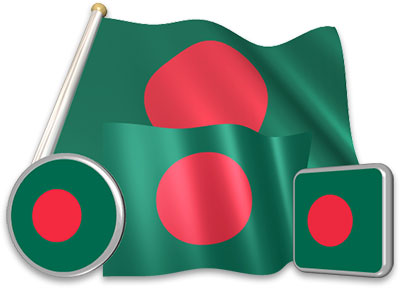 Bangladeshi flag animated gif collection