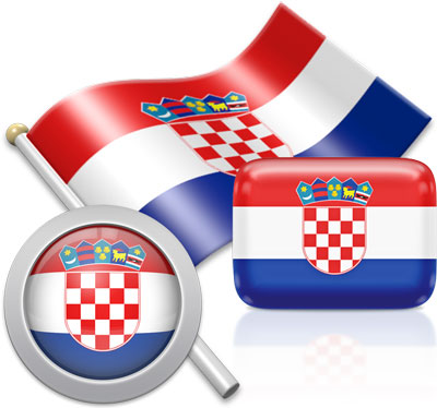 Croatian flag icons pictures collection