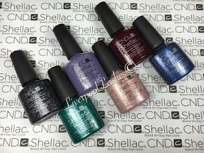 liverpoollashes liverpool lashes cnd shellac starstruck collection vinylux starry sapphire blushing topaz garnet glamour amethyst