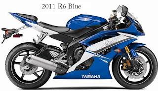 2011 Yamaha R6 Blue