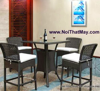 Outdoor Wicker Bar Set Minh Thy 804