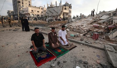 Takbir Aidilfitri tetap bergema di bumi Palestin