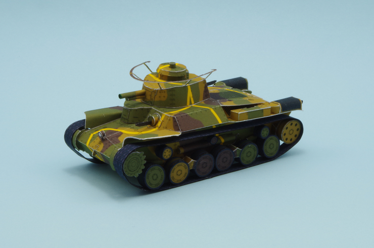 Type 97 Chi-Ha Papercraft