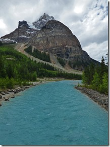 Yoho National Park, Kicking Horse River from bridge on Yoho Road