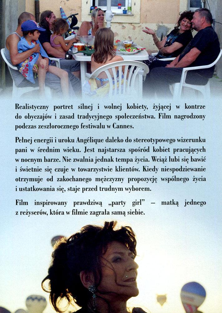 Ulotka filmu 'Party Girl (tył)'